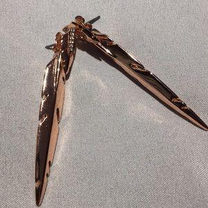 Modern earrings rose gold color